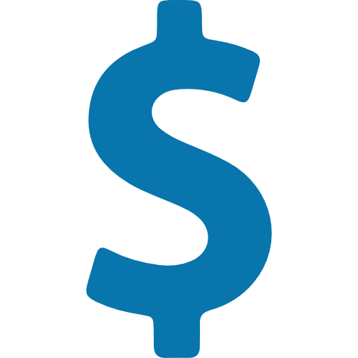 dollar sign representing budgets and planning
